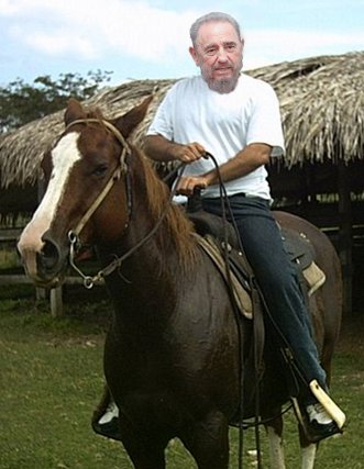 Castro on horseback by Adnan Hajj