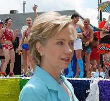 Hillary Clinton wants to  muff the gay vote