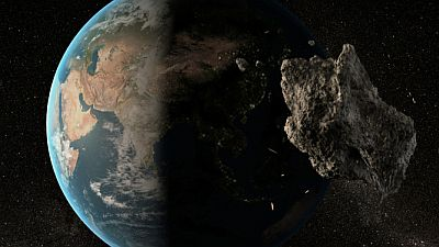 asteroid 2012 TC4 will pass quite close to Earth's surface when it zips safely by our planet