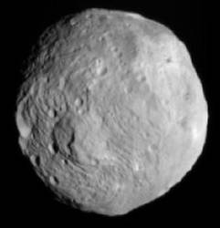 Vesta seen by Dawn at a distance of 41,000km