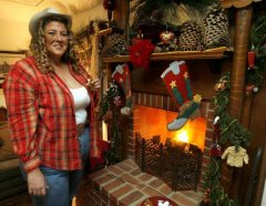 Annie Borel of French Valley has enjoyed her fireplace over the holidays for many year