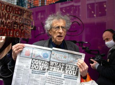 Antivax campaigners include Piers Corbyn, brother of the former Labour leader
