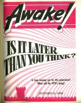Awake is a Watchtower publication distributed by child rapists