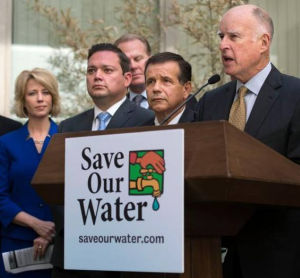 Gov. Jerry Brown talks about water conservation