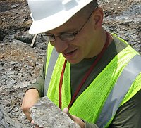 Carlos Jaramillo is lead paleontologist of a Smithsonian-funded team finding fossils at the Cerrejon site