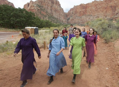 Community members attend a memorial service in Hildale, Utah, a town dominated by the Fundamentalist Latter-day Saints