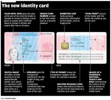Up to 60,000 cards, containing fingerprints as well as photographs and personal details of the holders, will be issued to people from outside the European Economic Area within the next four months