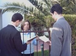 Jehovah's Witnesses in House-to-House Preaching