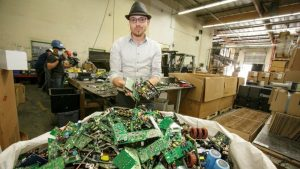 A renowned e-waste innovator is going to prison for producing 25-cent discs that could've saved thousands of computers from the landfill