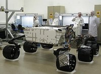 At 1,875 pounds, the Mars Science Laboratory is more rugged than previous landers.