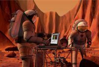 NASA scientists are have plans to link astronauts on Mars to Earth via the internet and interplanetary 3-D virtual worlds.