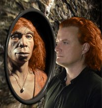 Red-haired Neanderthals and modern man face to face