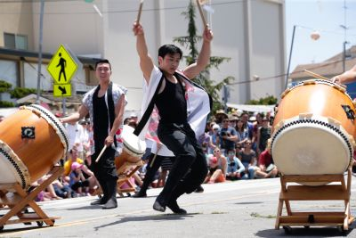Asayaka Taiko performs at the San Jose Obon Festival