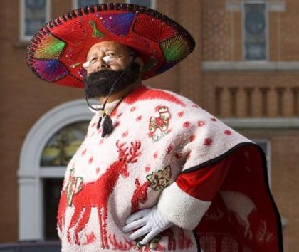 Pancho Claus from the south pole