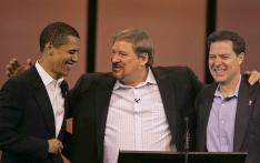 Pastor Rick Warren and friends