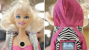 The Barbie has a video camera in her chest.