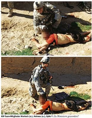 The images are repulsive. A group of rogue US Army soldiers in Afghanistan killed innocent civilians and then posed with their bodies