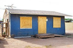 a shack in Arizona with a $103,000 mortgage