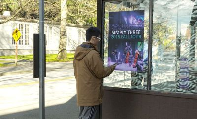 Engineers tested the new technology with this poster at a Seattle bus stop