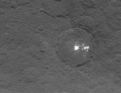 Ceres crater anomoly