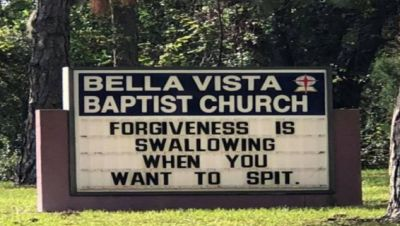 Church says the plan to remove the sign amid controvery