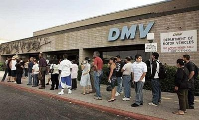 DMV slow go zone