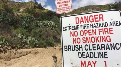 a few thousand acres of forest burned in the foothills above Duarte, northeast of Los Angeles