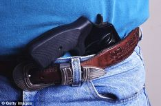 better to holster your gun if it becomes dangerous