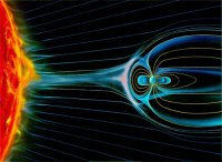 magnetic field shields earth from solar bursts