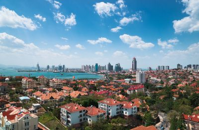 The Western urban area of Qingdao City, Shandong Province, China