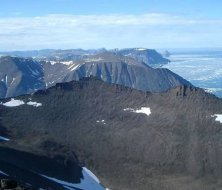 Baffin Island's flood basalt lava cliffs are made from the oldest material on Earth
