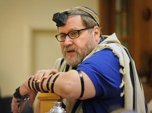 Rabbi Barry Freundel during morning prayers at Kesher Israel in Washington D.C