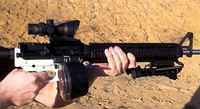 "The white portion of this AR-15, known as the ""lower,"" was manufactured using 3D printing"