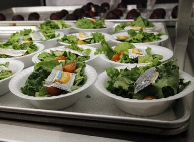 Side salads await the students