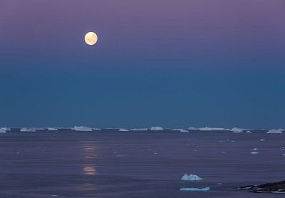 sea ice in moonlight