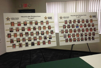 "The two-week joint sting, known as ""Operation L and P,"" netted 101 arrests"