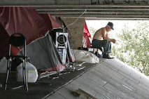 Sex offenders called this makeshift camp under a Miami causeway home