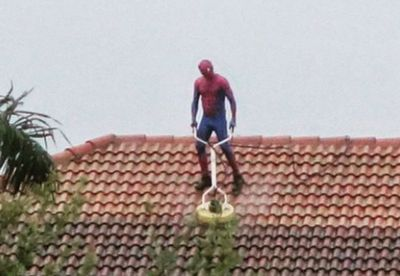 Spider Man doing the job because he can