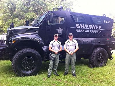 militarization of police in Walton county